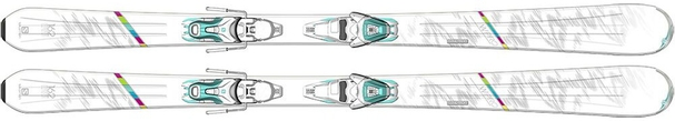 Горные лыжи Salomon W-Pro + крепления Lithium 10 W (15/16)