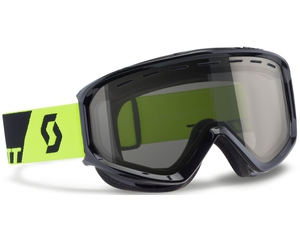 Маска Scott Level Black Neon Yellow / Black Chrome