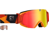 Маска Salomon XVIEW Xtra L Black-Orange / ML Mid Red Universal