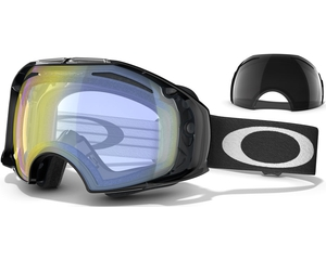 Маска Oakley Airbrake Jet Black / H.I. Yellow & Dark Grey