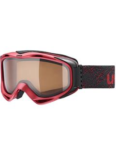 Маска Uvex G.Gl 300 P Darkred Mat / Polavision® Brown Clear