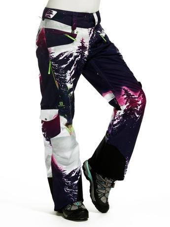 Брюки Salomon Zero Pant W Wizard Violet/BY/GR 13/14
