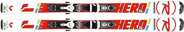 Горные лыжи Rossignol Hero JR 100-130 + Kid X 4 (17/18)