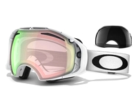 Маска Oakley Airbrake Polished White / H.I. Yellow + Dark Grey