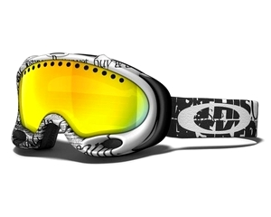 Маска Oakley A-Frame Tagline Black-White / Fire Iridium