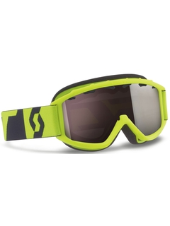 Детская маска Scott Hook Up Jr Neon Yellow / Silver Chrome