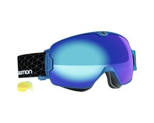 Маска Salomon XMax AF Blue / Blue + Light Yellow Multilayer Low Light