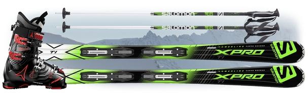 Горнолыжный комплект Salomon X-Pro Ti + крепления Lithium 10 + Atomic Hawx 1.0 100 + Salomon X 08
