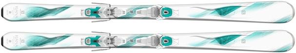 Горные лыжи Salomon Kiana + крепления Lithium 10 W (16/17)