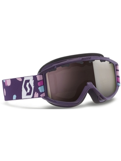Детская маска Scott Hook Up Jr Purple / Silver Chrome