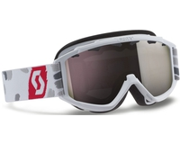 Маска Scott Hook Up Jr White Red / Silver Chrome