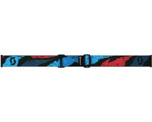 Маска Scott Fix Brushed Blue Red / Black Chrome