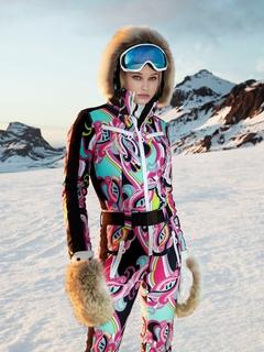 Комбинезон с мехом Goldbergh Glam Fur