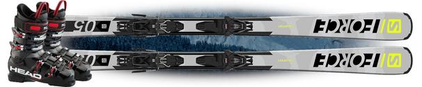 Горные лыжи Salomon S/Force 5 с креплениями L10 GW + Head Next Edge 75 (19/20)