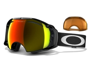 Маска Oakley Airbrake Jet Black / Fire Iridium + Persimmon