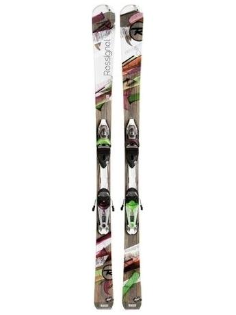 Горные лыжи с креплениями Rossignol Attraxion 6 Echo WTPI2 + SAPHIR 110 S TPI Purple Green 12/13