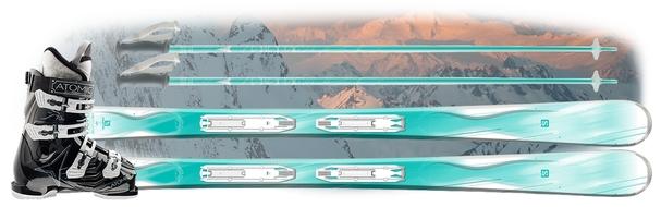 Горные лыжи Salomon Kiana + Atomic Cloud + ботинки Atomic Hawx 1.0 70 Plus W в подарок