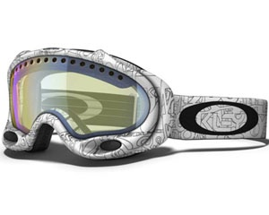 Маска Oakley A-Frame White Factory Text / H.I. Yellow