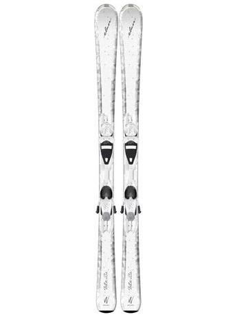 Горные лыжи с креплениями Elan White Perla QT + EL 7.5 12/13
