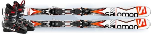 Горные лыжи Salomon X-Drive 7.5 R + ботинки Next Edge 75 в подарок