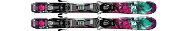 Горные лыжи Salomon Q-Lux Jr XS + крепления EZY5 (14/15)