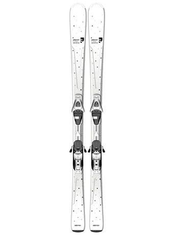 Горные лыжи с креплениями Salomon Pure White + L9 B80 White 12/13