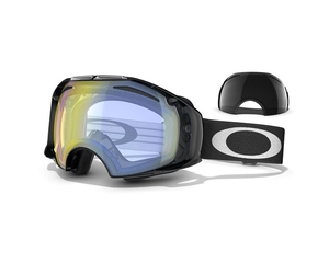 Маска Oakley Airbrake Black / H.I. Yellow Iridium + Dark Grey