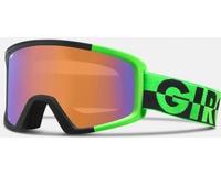 Маска Giro Blok Bright Green 50/50 /Persimmon Boost