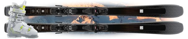 Горные лыжи Salomon Aira 76 CF с креплениями L 10 GW + Head Advant Edge 85 W (19/20)