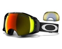 Маска Oakley Airbrake Jet Black / Fire Iridium + H.I. Yellow