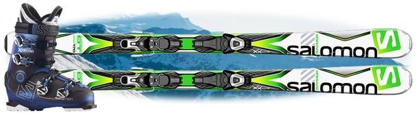 Горные лыжи Salomon X-Drive 8.0 BT + ботинки Salomon X Pro R90 в подарок