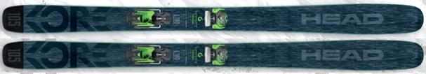 Горные лыжи Head Kore 105 + крепления Attack2 13 (17/18)
