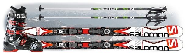 Горнолыжный комплект Salomon X-Drive 7.5 + крепления Lithium 10 + Atomic Hawx 1.0 80 Plus + Salomon X 08