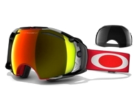 Маска Oakley Airbrake Shaun White Sign. Red Future Primitive / Fire Iridium + Dark Grey