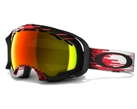 Маска Oakley Splice Hyperdrive Red-Black / Fire Iridium
