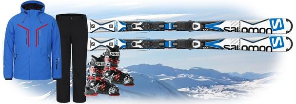 Горные лыжи Salomon лыжи X-Drive Focus + костюм Icepeak Novak + подарок - ботинки Hawx 1.0 80 Plus