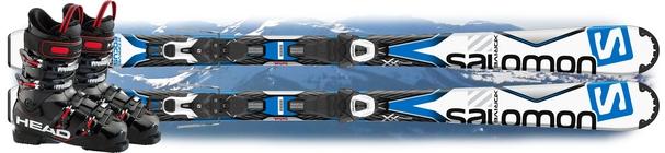 Горные лыжи Salomon X-Drive Focus + ботинки Next Edge 75 в подарок