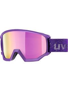 Маска Uvex Athletic FM Dark Violet Mat / Mirror Silver Lasergold Lite