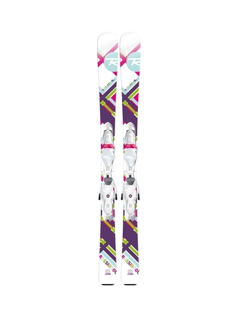 Горные лыжи Rossignol Fun Girl + Xel.Kid Saphir 45 14/15